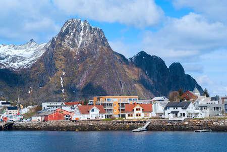 Town Svolvaer on Lofoten islands Stock Photo