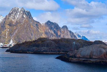 Norwegian town Svolvaer on Lofoten