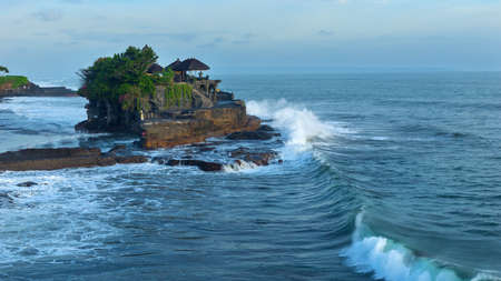 Temple Tanah Lot on south coast of island Bali in Indonesia Stock Photo
