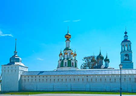 White Monastery near Yaroslavl in the spring day