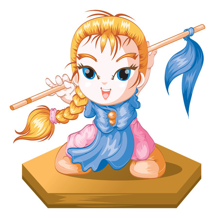 quickness: cute kung fu girl