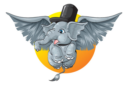 angel elephant Illustration