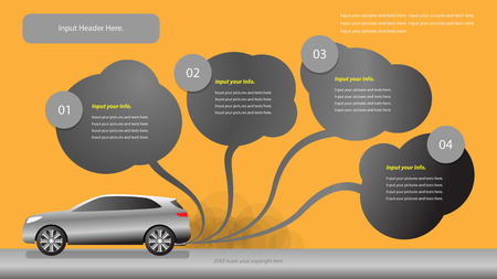 poison sea transport: Air Pollution from car Vector Design