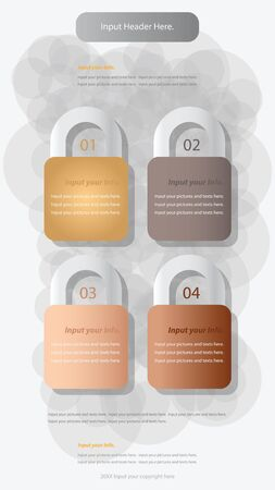 number lock: Modern lock infographics options banner. Vector illustration. can be used for workflow layout, diagram, number options, web design.