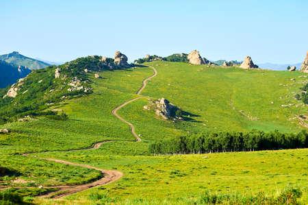 Qingshan district of Hexigten global geopark landscape Stock Photo
