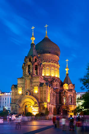 Saint Sophia Cathedral in Harbin city, China Editorial