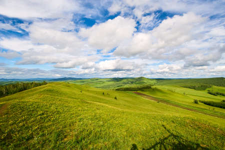 The summer Hulunbuir grasslands of inner Mongolia, China.