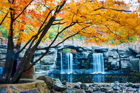 The autumn landscape of Benxi Guanmen mountain scenic spot.