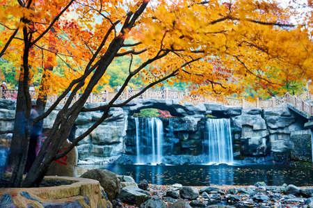 The autumn landscape of Benxi Guanmen mountain scenic spot.