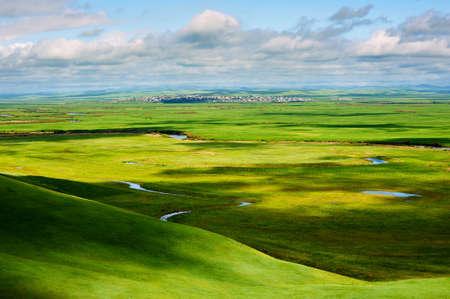The summer grassland of Hulunbuir, China.