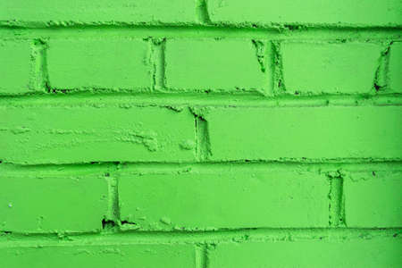 old green vintage brick wall texture background