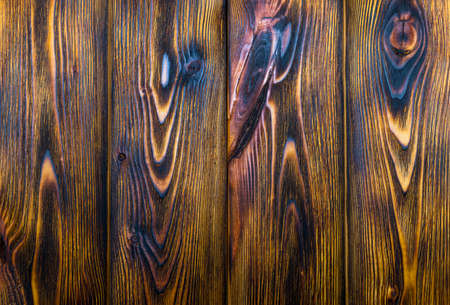 Burned wood board texture background Stock Photo