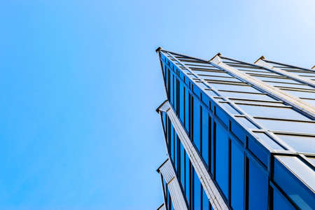 high tech modern architecture buildings. Details Of Office Building Exterior. Business Buildings Skyline Looking Up  With Blue Sky. Modern High Tech Modern Architecture N