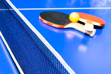 Blue table tennis Imagens