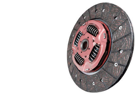 Car repair kit clutch manual gearbox isolated on a white background. Car and truck clutch disk. Sport clutch. Composite clutch disc. Clutch repair kit. Car maintenance spare parts. 写真素材