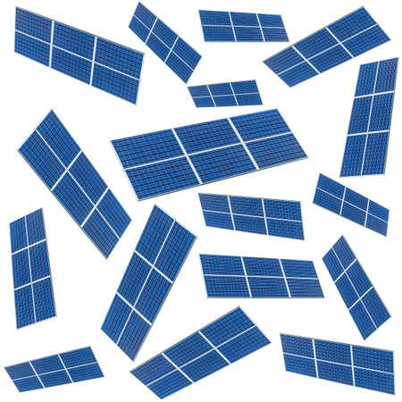 Blue Solar panel pattern isolated on white background. Solar panels pattern for sustainable energy. Renewable solar energy. Alternative energy. Stockfoto
