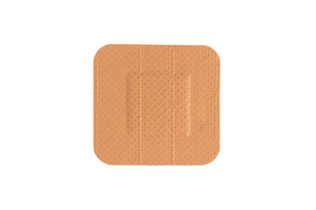 Top view medical plaster isolated on a white background. Medical sticking patch isolated on white. First aid item. Adhesive bandage plaster Stock fotó