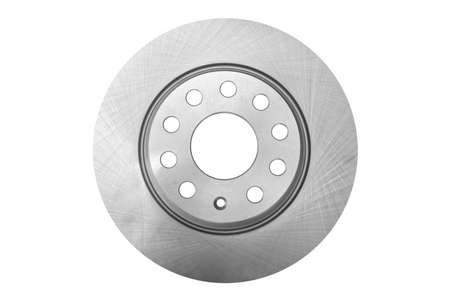Car brake disc isolated on white background. Auto parts. Brake disc rotor isolated on white. Braking disk. Car part. Spare parts. Quality spare parts for car service or maintenance 写真素材