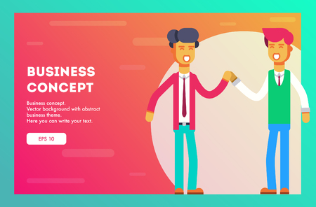 Two businessmen greet each other. Ideas of the business team. Vector, Illustration, Flat. Illustration