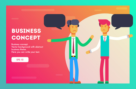 Business concept. Different opinions of businessmen. Vector illustration
