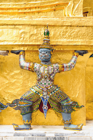 The demon guardian in the grand palace, Bangkok photo