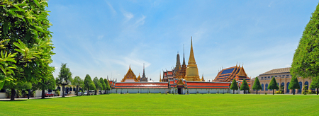 Panorama Grand Palace  Wat Phra Kaew  , Bangkok , Thailand photo