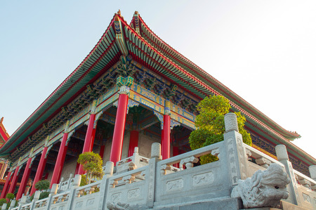 lengnoeiyi: Traditional Chinese temple style at Wat Leng-Noei-Yi, Thailand Stock Photo