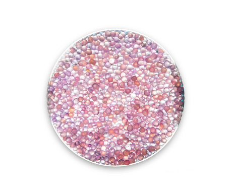 silica: Purple silica gel on the plate