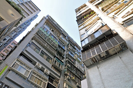 Public apartment block in Taiwan Stock Photo
