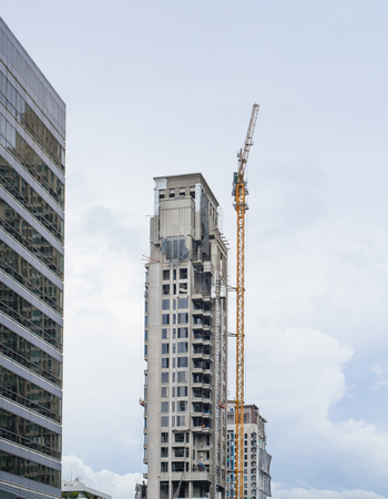 High Building site with crane