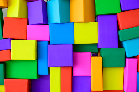 superimposed: Superimposed of colorful boxes