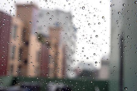 Rainy drop on the mirror - Stock Image photo
