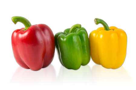 Sweet pepper isolated on white  photo