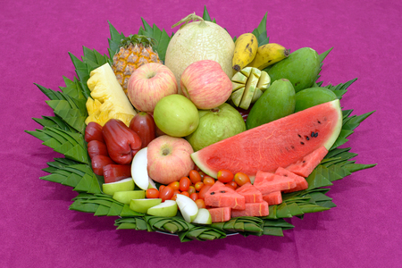 Many different fresh fruits photo