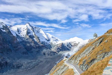 hochalpenstrasse: View of  Franz Josefs Hohe Glacier, Hohe Tauern National Park, Austria Stock Photo