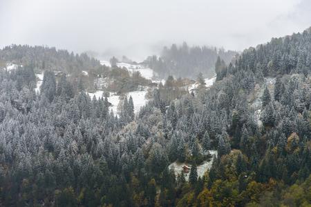 View along the way to Jungfraujoch, Switzerland photo