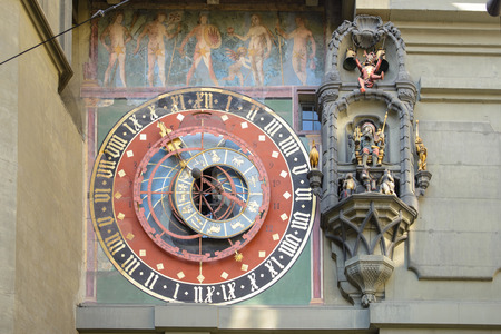 Zytglogge in Bern, landmark medieval clock tower, Switzerland