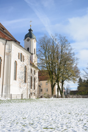 country church: The Pilgrimage Church of Wies (Wieskirche) Country church in Bavaria, Germany Stock Photo