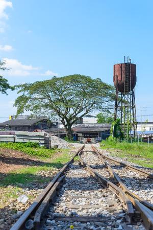 complicated journey: Railway landscape
