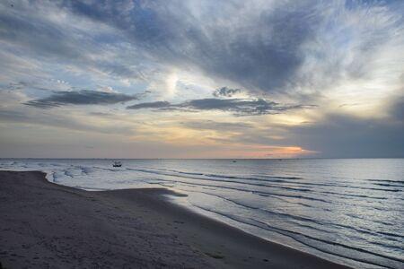 romance sky: Sunset on thailand beach