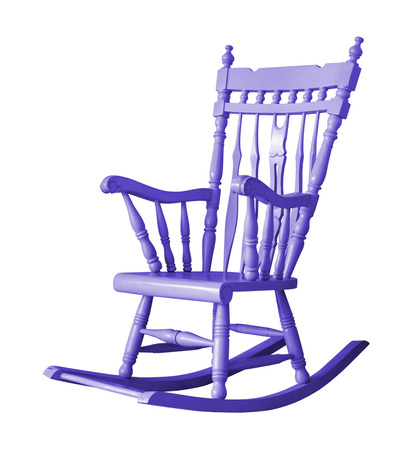 rocking chair: Rocking chair on white background with clipping path Stock Photo