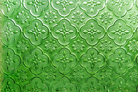 seventies: vintage glass Pattern Stock Photo