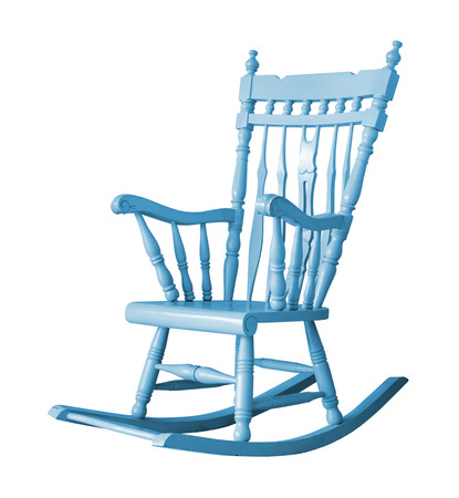 Rocking chair on white background with clipping path Stock Photo