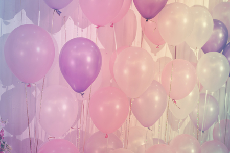 Pastel color balloons for Background