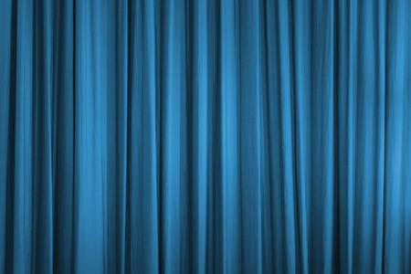blue curtain: Blue curtain