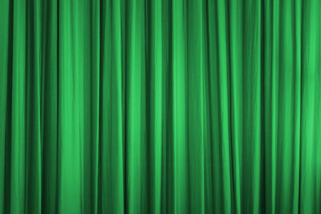 stage decoration abstract: Green curtain
