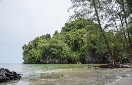 yong: Beach and cliffs of  YONG LING Beach, Thailand