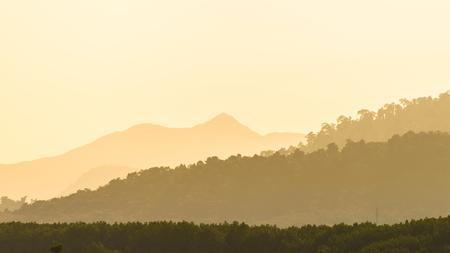 ridges: Layers of mountain ridges silhouettes