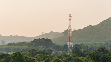 antenna tower on the mountain