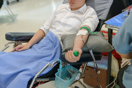 donor: Blood donor at donation, Blood donation
